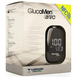 Glucosemeter GlucoMen Areo Set (incl Glucosemeter, prikpen, lancetten, glucosestrips, etui)