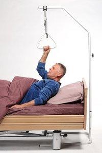Optrekbeugel-zelfoprichter op voet - max trekkracht 75 kg